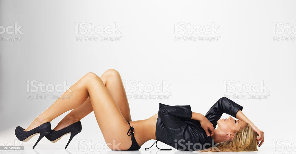 Nothing but pure sexiness stock photo