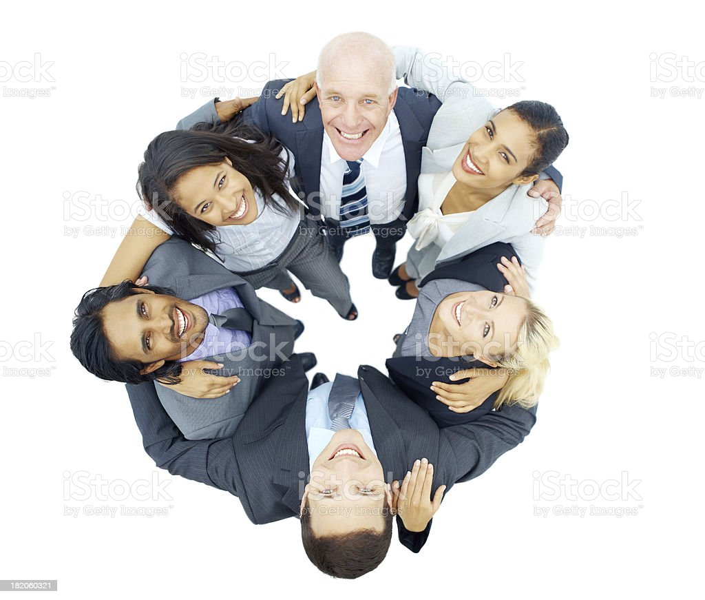 Nothing but success when they put their minds together royalty-free stock photo