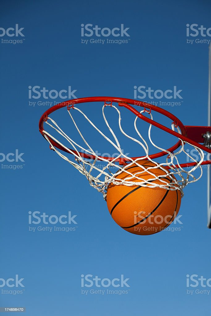 Nothing but the net vertical stock photo