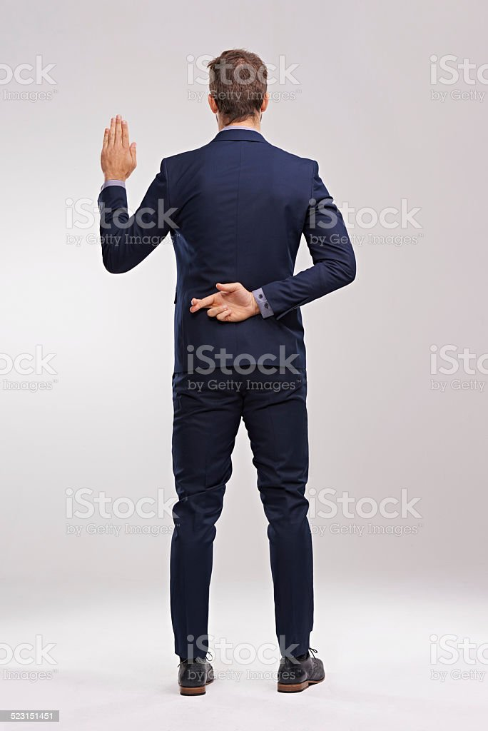 Nothing but the truth stock photo
