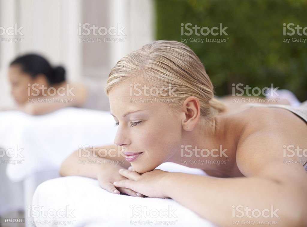 Nothing can disturb her now royalty-free stock photo
