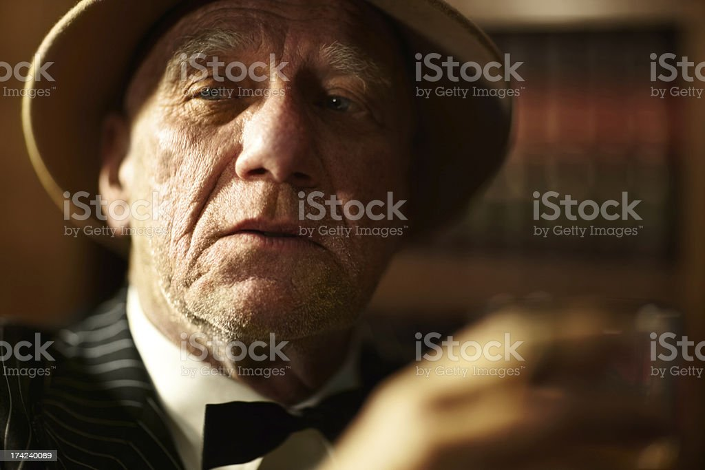 Nothing fazes this crimelord royalty-free stock photo