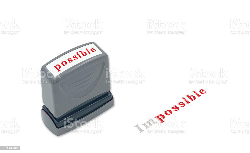 nothing impossible stock photo