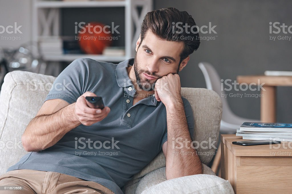 Nothing interesting to watch. stock photo