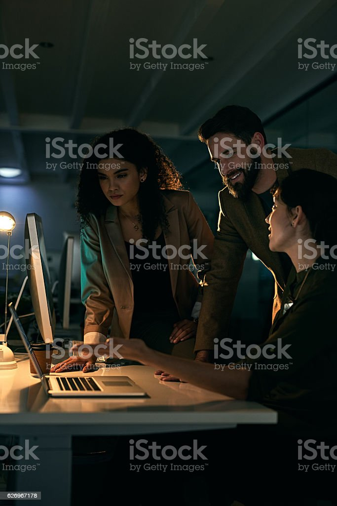 Nothing is impossible when it comes to this trio stock photo