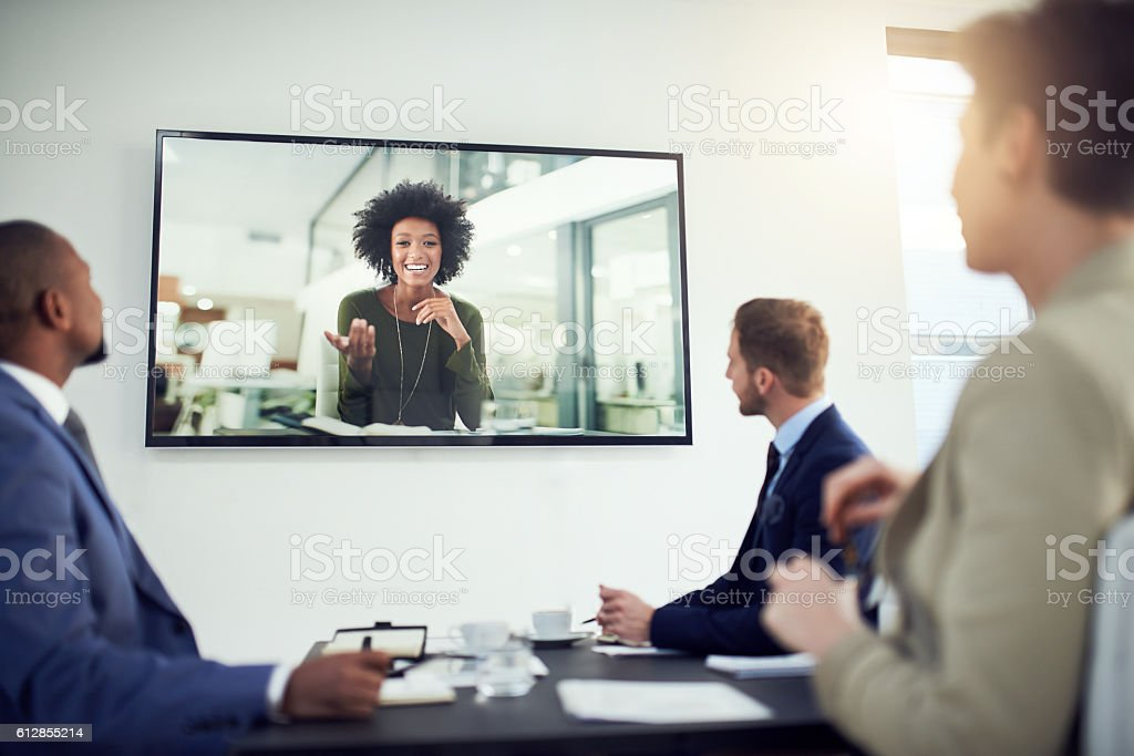 Nothing is lost in translation thanks to video calling stock photo