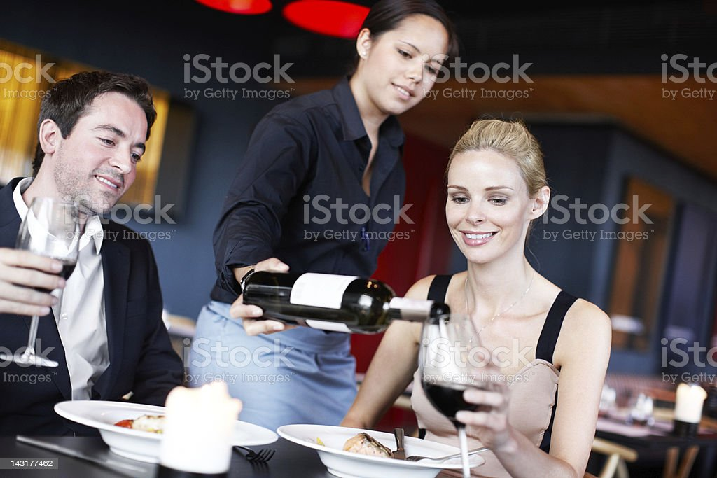 Nothing like a glass of red royalty-free stock photo