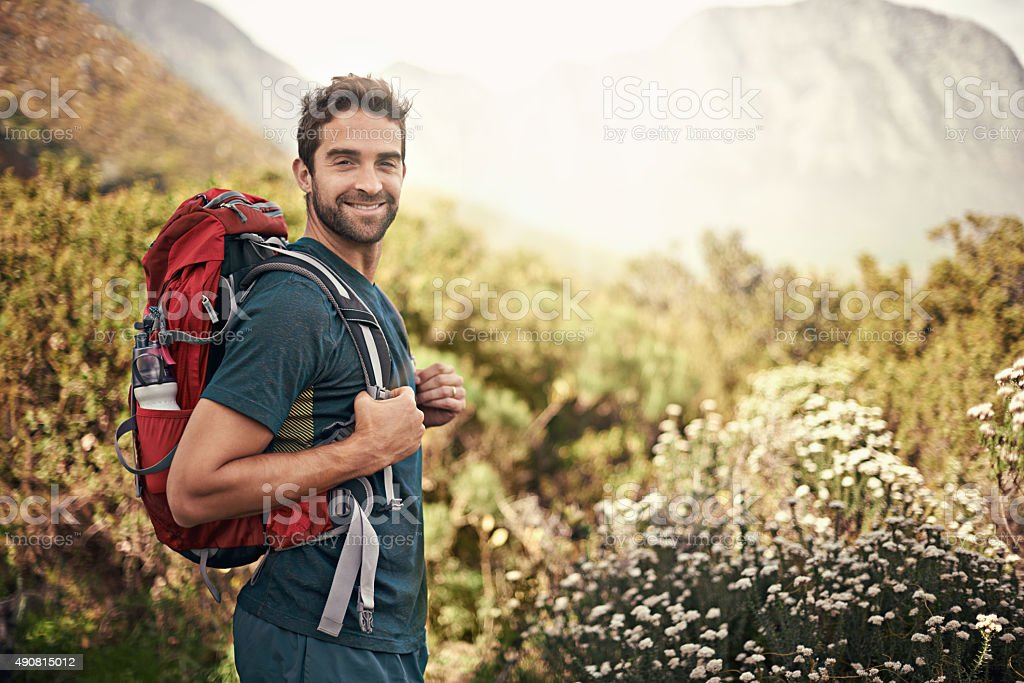 Nothing like a good hike to make you feel alive stock photo