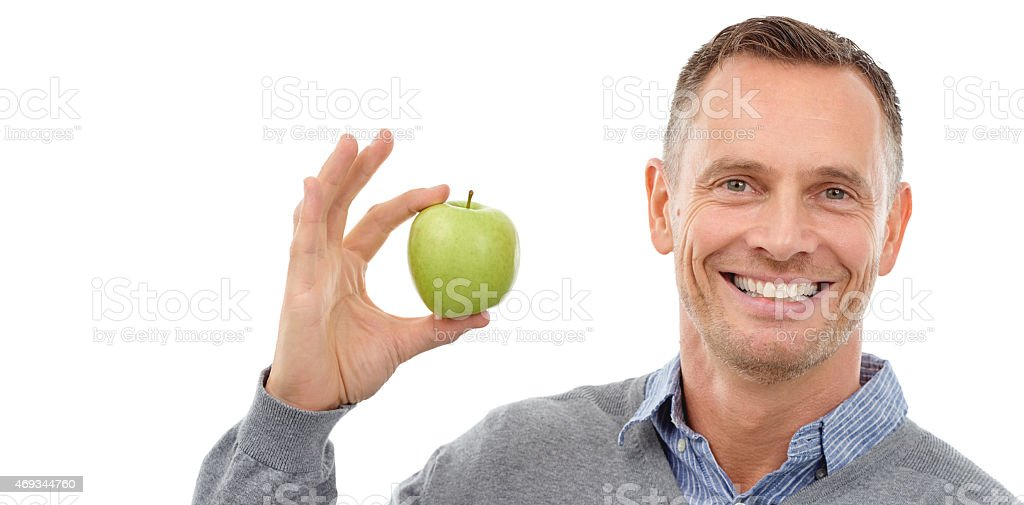 Nothing like a healthy snack! stock photo
