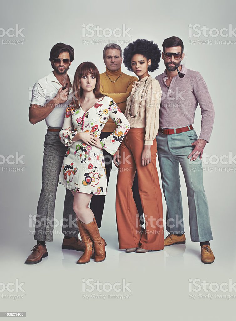 Nothing like some 70s style! stock photo