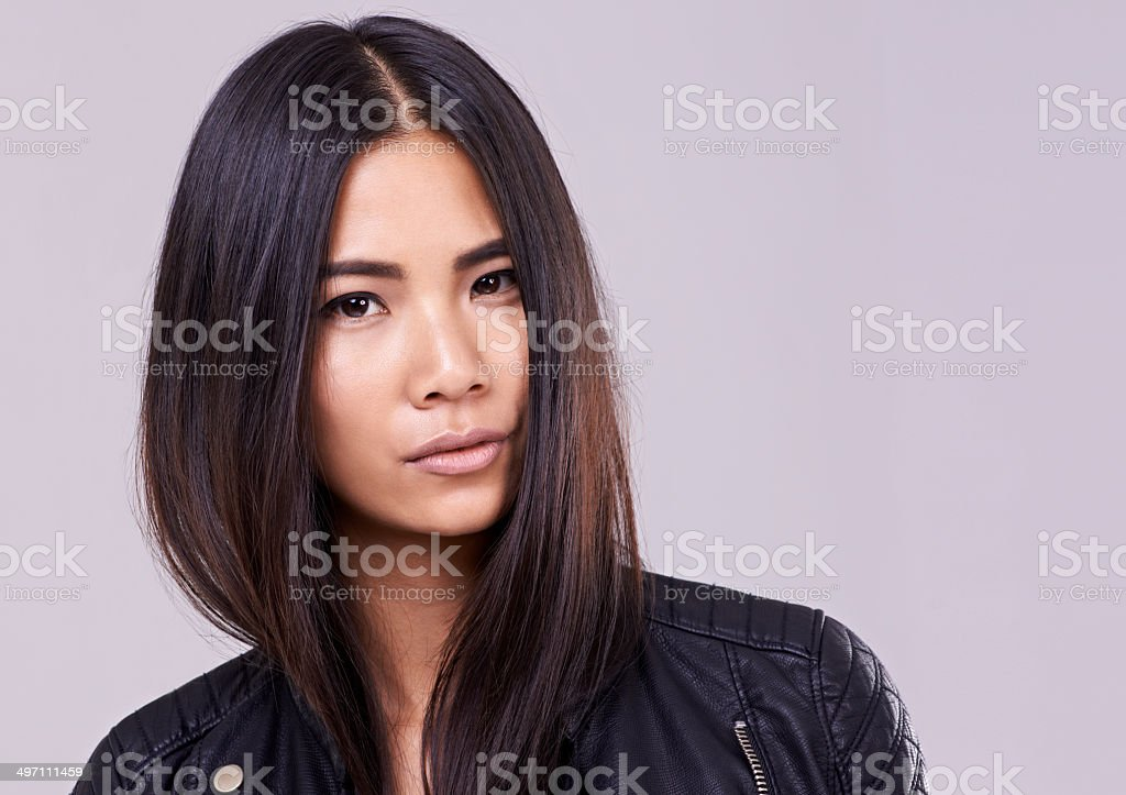 Nothing more serious to a woman than fashion! stock photo