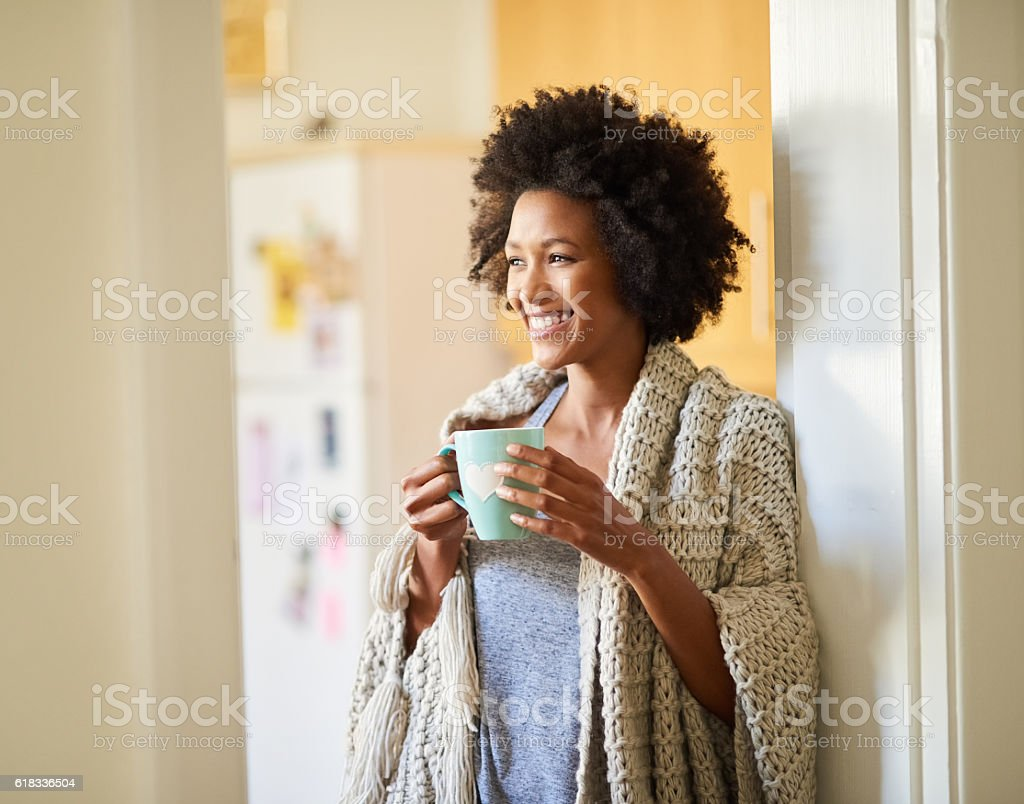 Nothing says good morning like an amazing cup of tea stock photo