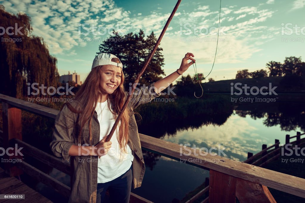 nothing to catch stock photo