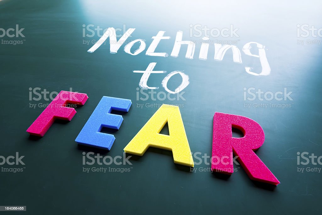 Nothing to fear royalty-free stock photo