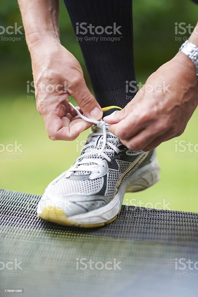 Nothing worse than loose laces... royalty-free stock photo