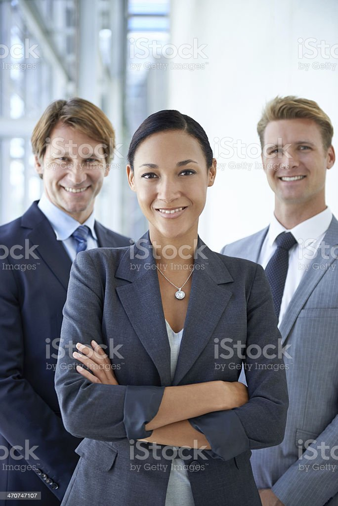 Nothing's going to hold our business back! stock photo