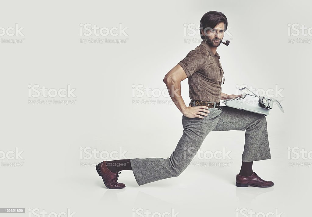 Nothing's too tough for me... stock photo
