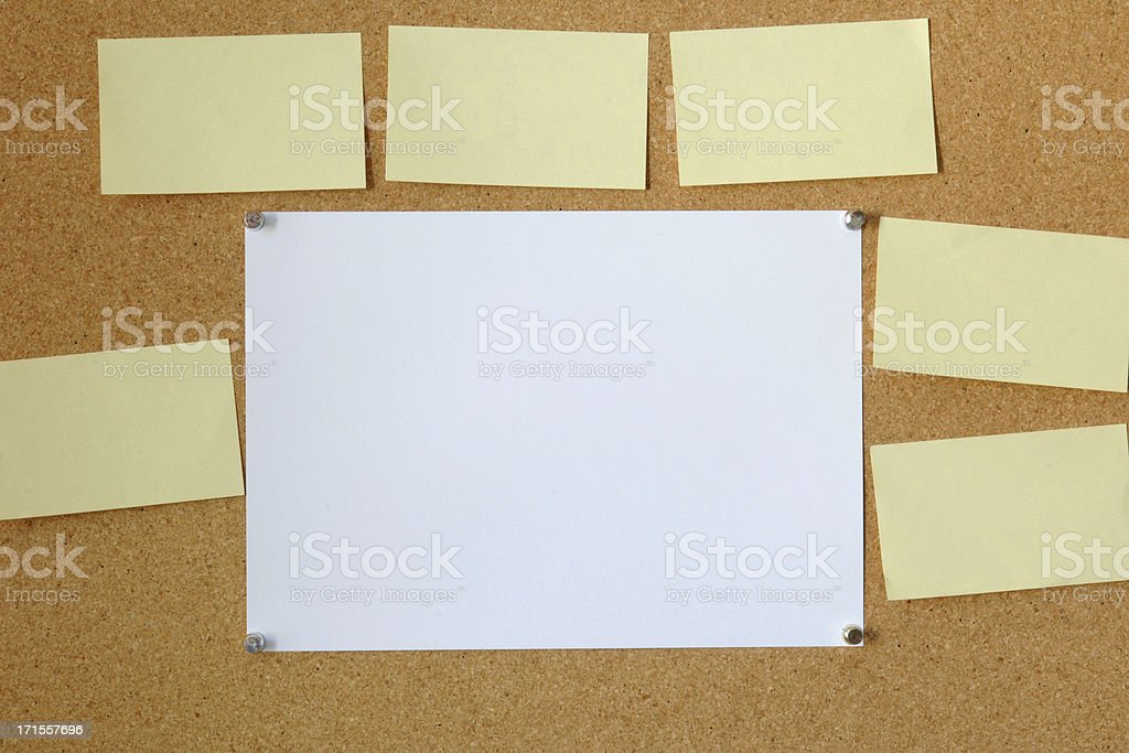 Notice Board blank space add text royalty-free stock photo