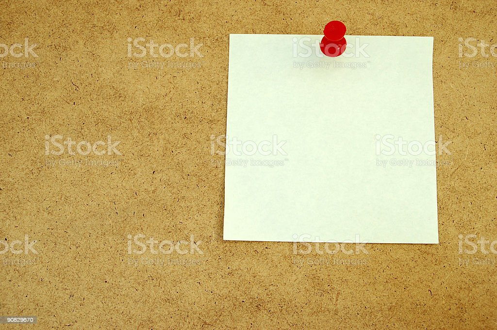 Notice board with post-it note #3 royalty-free stock photo