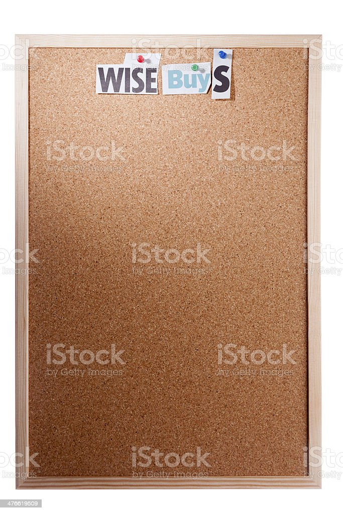 Noticeboard For Announcements royalty-free stock photo