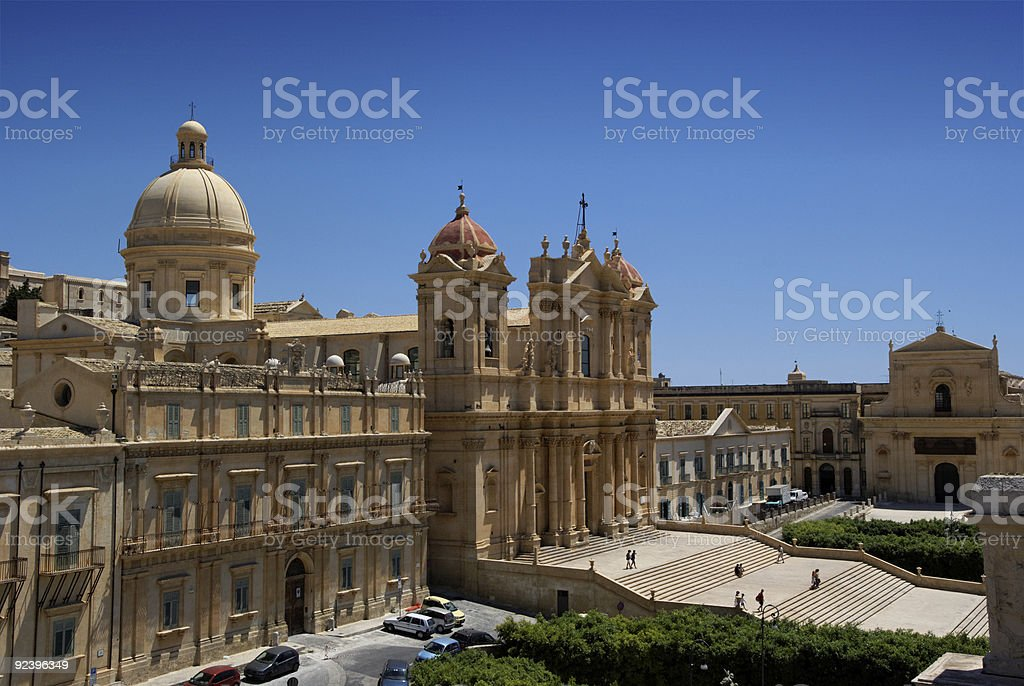 Noto baroque town in Sicily royalty-free stock photo