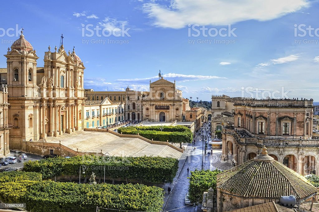 Noto, Sicily stock photo