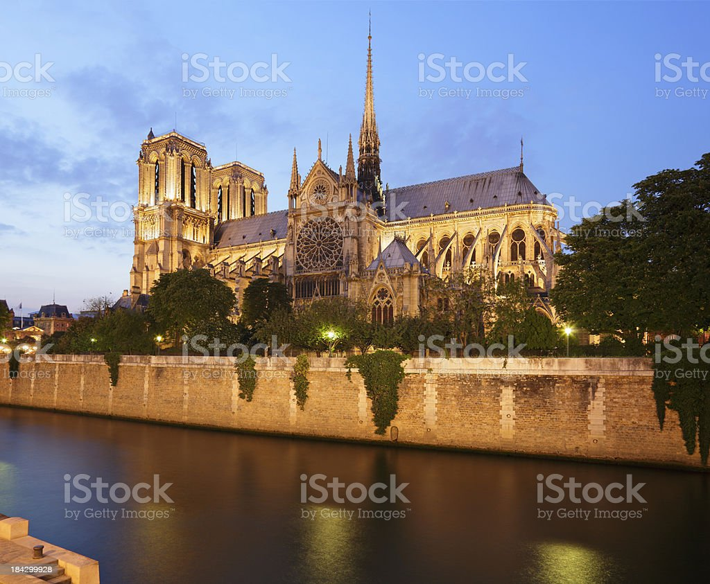 Notre Dame at Dusk royalty-free stock photo