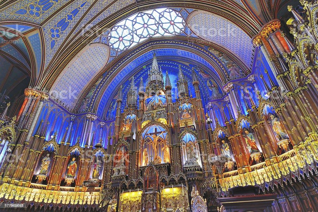 Notre Dame Basilica, Montreal stock photo