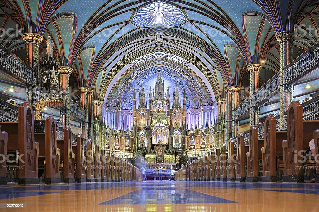 Notre Dame Basilica - Montreal royalty-free stock photo