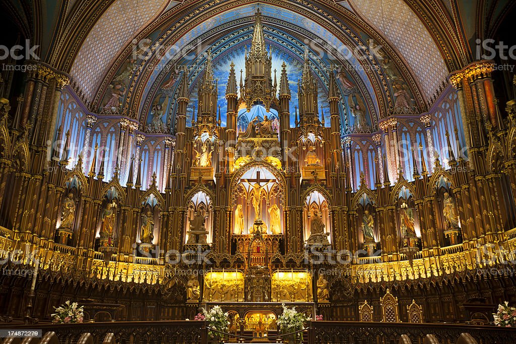 Notre Dame Basilica royalty-free stock photo
