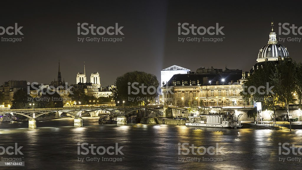 Notre Dame by night, Paris royalty-free stock photo