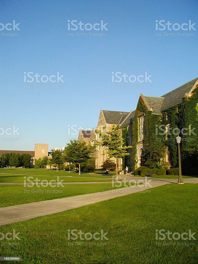 Notre Dame Campus stock photo