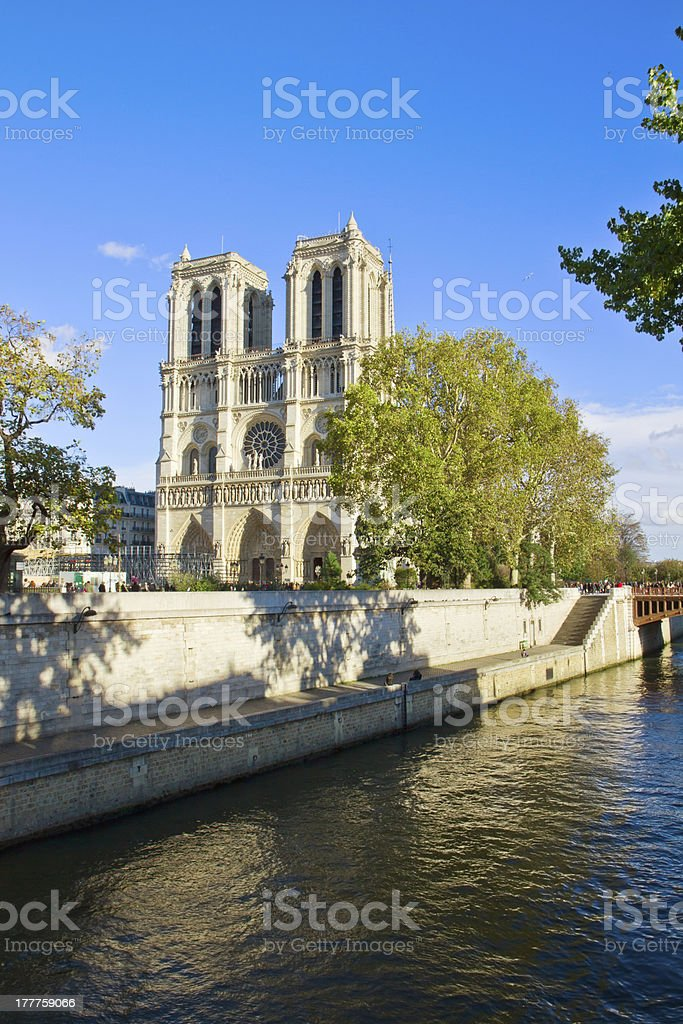 Notre Dame cathedral church, Paris, France royalty-free stock photo
