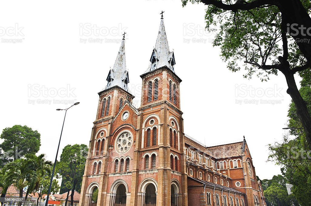 Notre Dame Cathedral, Ho Chi Minh City, Vietnam royalty-free stock photo