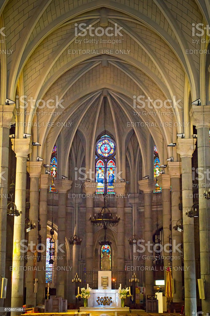 Notre Dame Cathedral in Nice stock photo