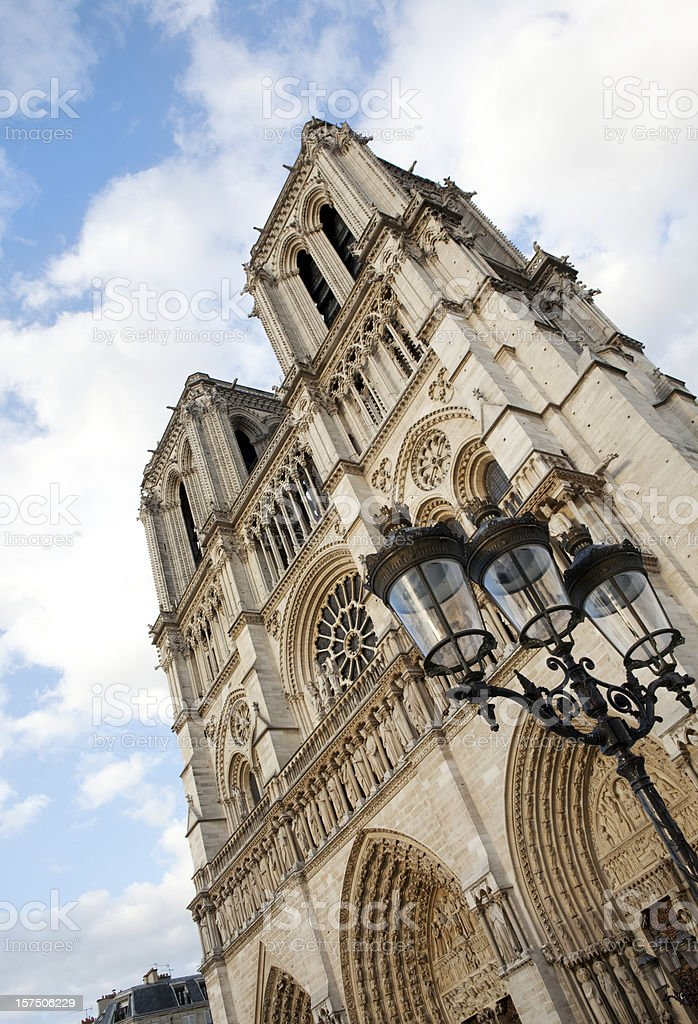 Notre Dame Cathedral in Paris France royalty-free stock photo