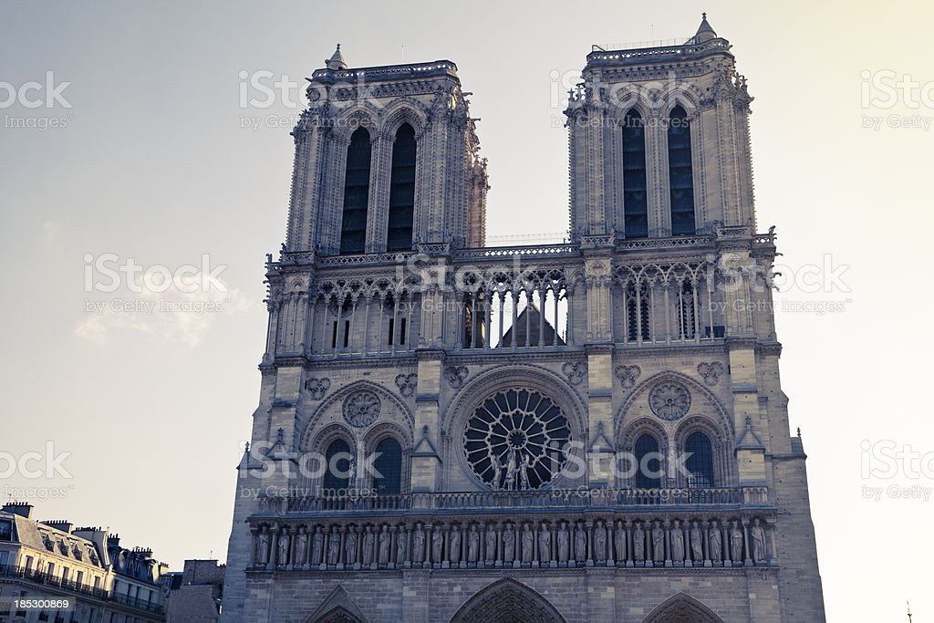 Notre Dame cathedral in Paris - France royalty-free stock photo