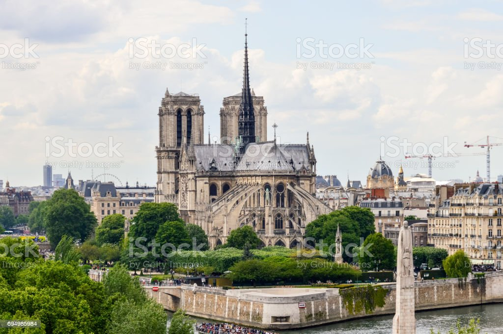 Notre Dame Cathedral in Paris stock photo