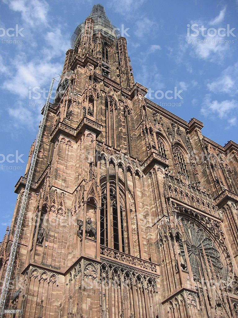 Notre Dame cathedral in Strasbourg stock photo