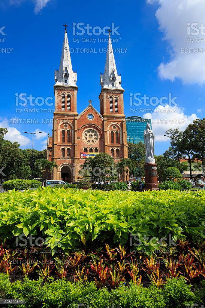 Notre Dame Cathedral in VietNam royalty-free stock photo