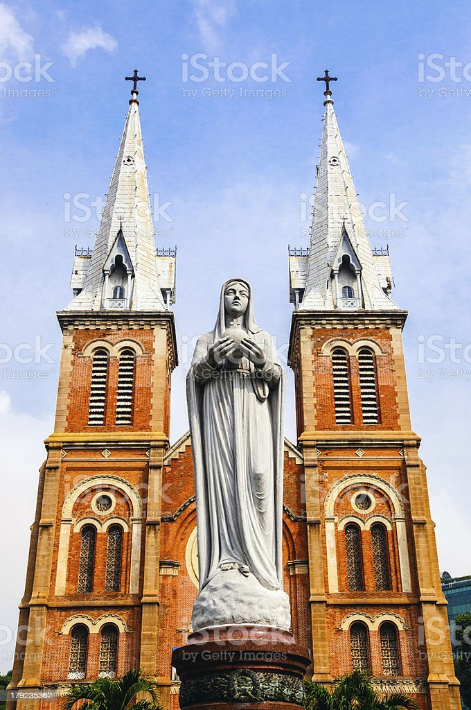 Notre Dame Cathedral of Saigon, Ho Chi Minh city, Vietnam royalty-free stock photo