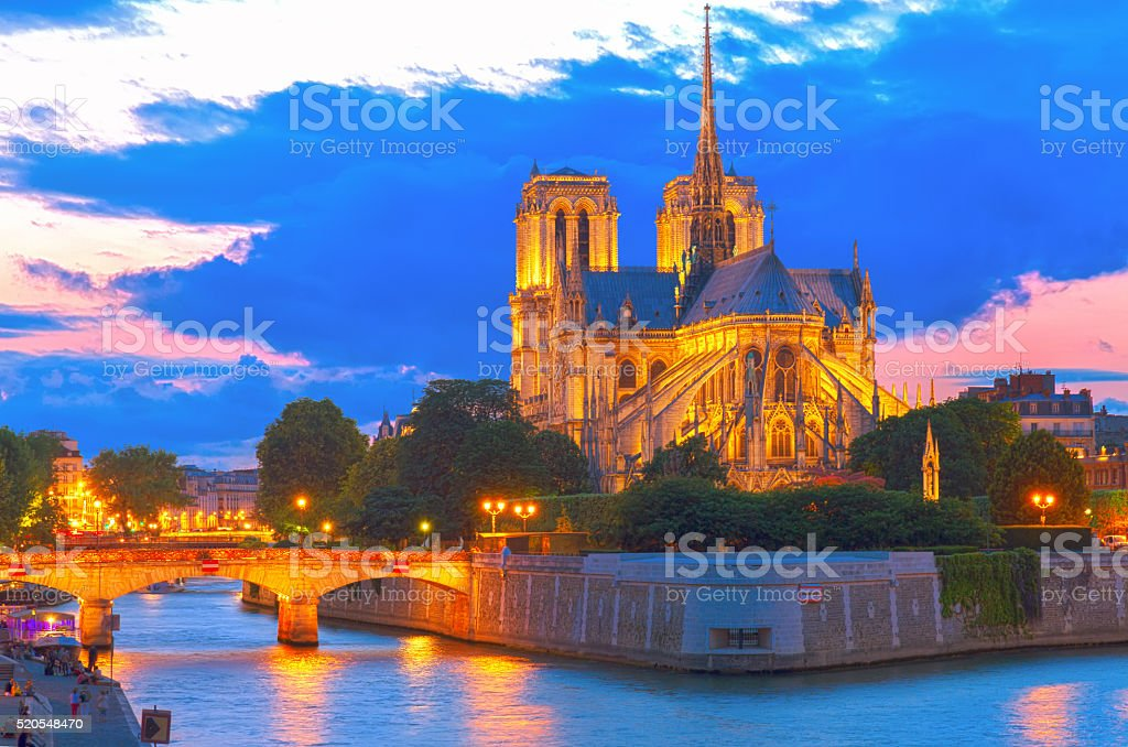 Notre Dame cathedral, Paris France stock photo