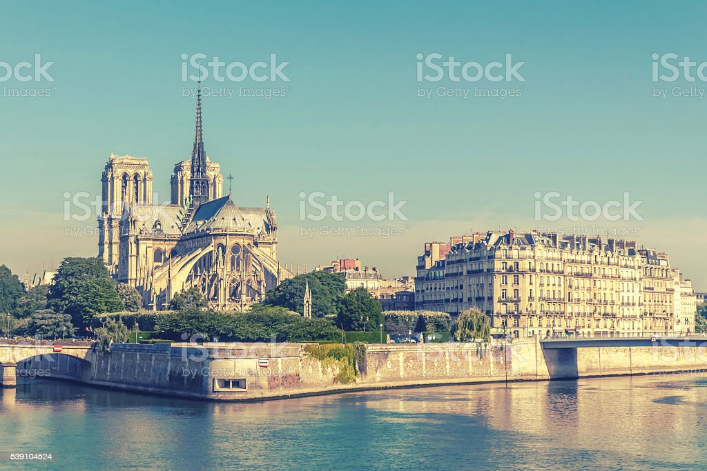 Notre Dame Cathedral, Paris, France stock photo