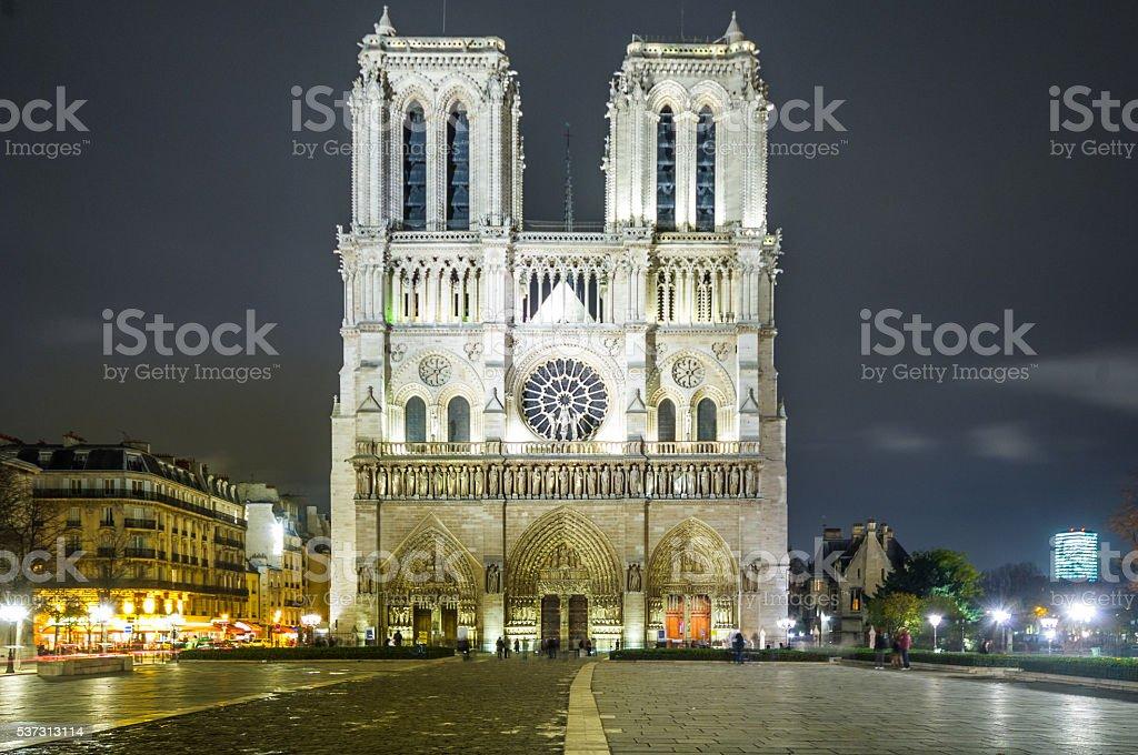 Notre dame Cathedral, Paris, Ile de France, France stock photo