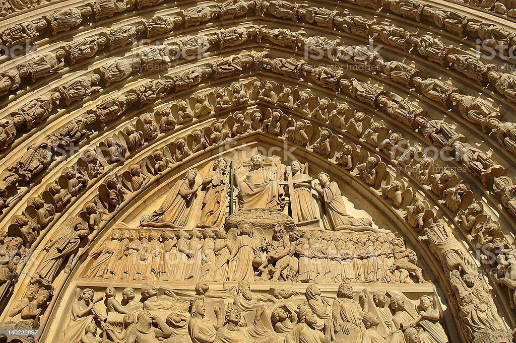 Notre Dame Cathedral, Paris stock photo