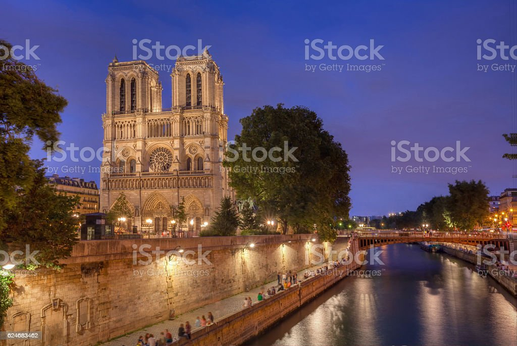 Notre Dame Cathedral Paris. stock photo