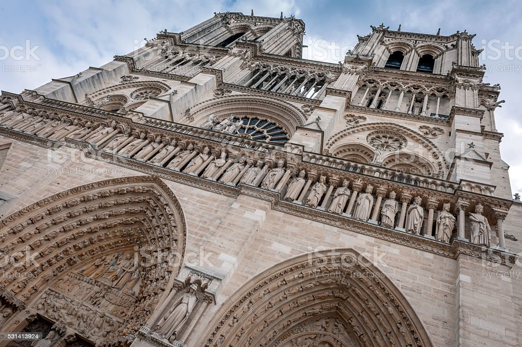 Notre Dame Cathedral ,Paris,France stock photo