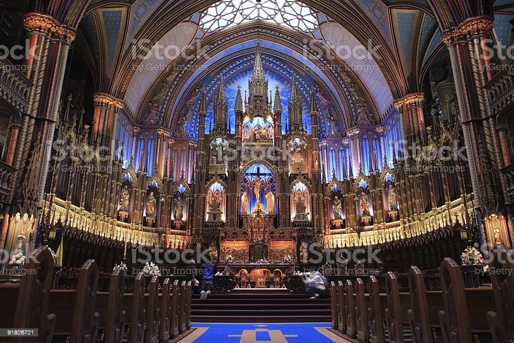 Notre Dame Cathedral (Montreal) royalty-free stock photo