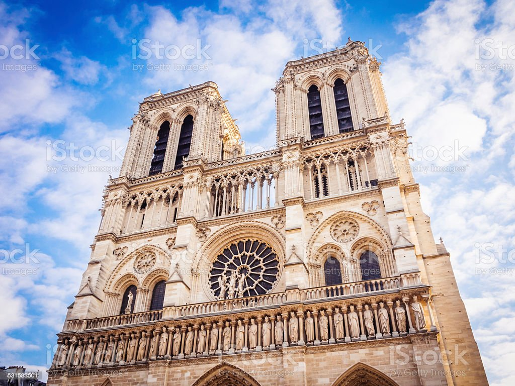 Notre Dame church in Paris stock photo