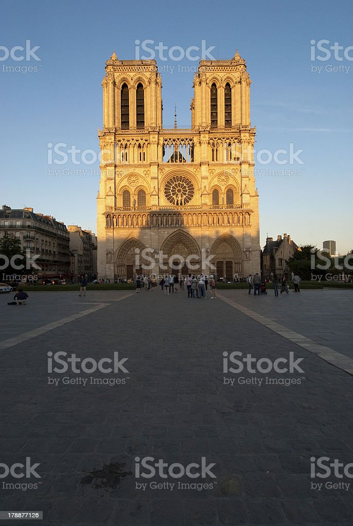 Notre - Dame church #3 royalty-free stock photo